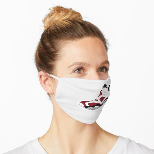karminrot 6s Maske