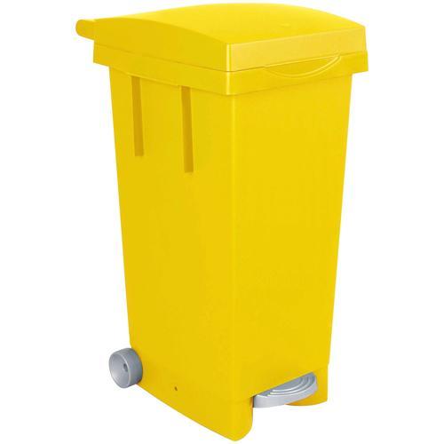 Mülleimer, BxTxH 370 x 510 790 mm, Inhalt 80 Liter, gelb Mülleimer Küche Ordnung