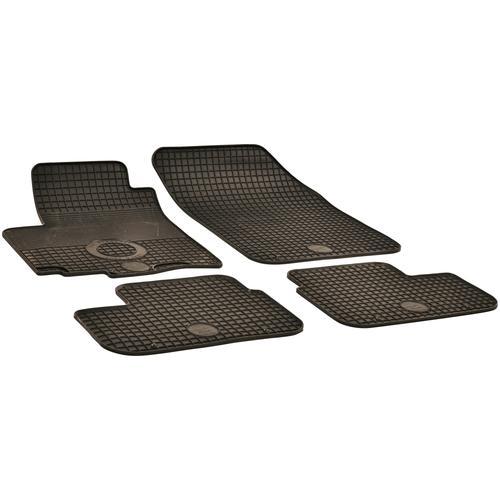 Walser Passform-Fußmatten, Opel-Suzuki, Agila-Splash, Schrägheck, (4 St., 2 Vordermatten, Rückmatten), für Opel Agila II und Suzuki Splash schwarz Automatten Autozubehör Reifen Passform-Fußmatten