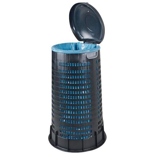 Mülleimer, Für 120 Liter Säcke, 410/520 mm, Höhe 880 mm schwarz Mülleimer Küche Ordnung