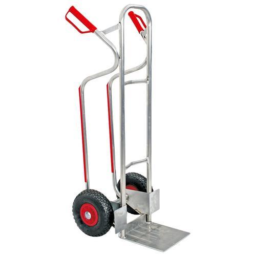 Sackkarre, BxTxH 520x550x1200 mm, Tragkraft 200 kg silberfarben Sackkarren Transport Werkzeug Maschinen Sackkarre