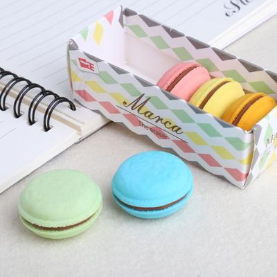 Gommes colorées en forme de Macaron, 5 pièces, fournitures de papeterie scolaire et de bureau, décor