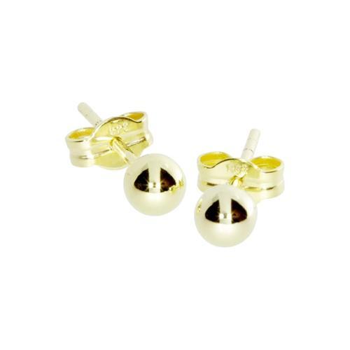 Ohrstecker - Kugel 4 mm - Gold 333/000 - , OSTSEE-SCHMUCK gold