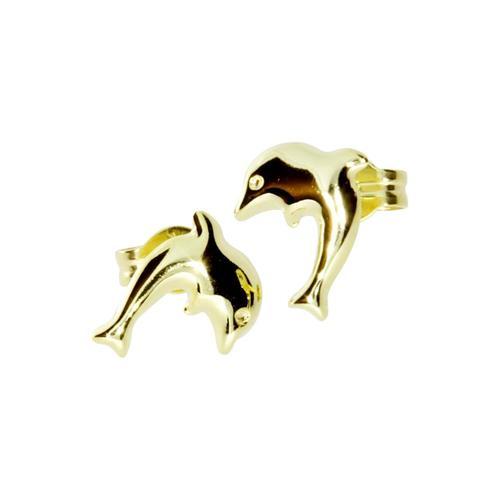 Ohrstecker - Delphin - Gold 333/000 - , OSTSEE-SCHMUCK gold