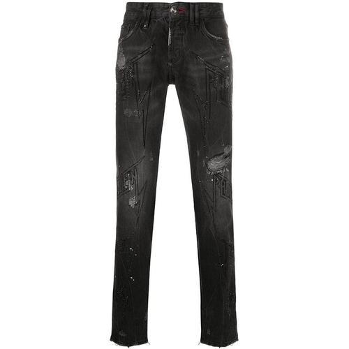 Philipp Plein Gerade Jeans mit Verzierung