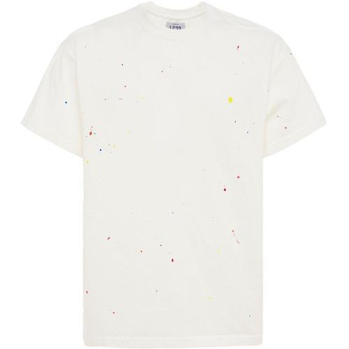 LC23 Handbemaltes T-shirt Aus Baumwolle