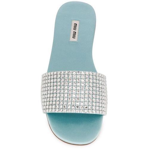 Miu Miu Sandalen mit Kristallen