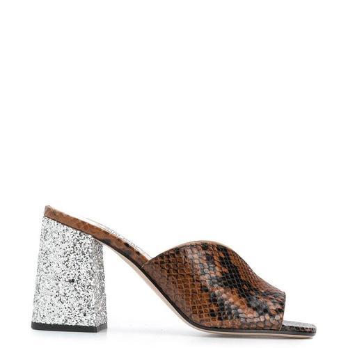 Miu Miu Stiefel mit Schlangen-Effekt