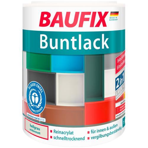 Baufix Acryl-Buntlack, 1 Liter, grau Lacke Farben Bauen Renovieren Acryl-Buntlack