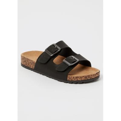Rue21 Womens Black Double Buckle Strap Sandals - Size 8
