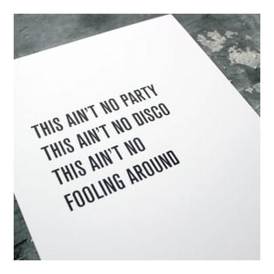Text From A Friend - A3 Music Lyrics | But Life Is Just A Party Print