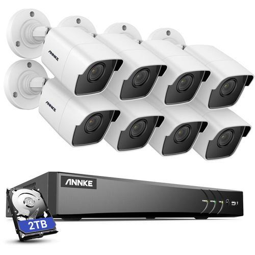 8-Kanal Ultra HD 4K H.265 CCTV-Kamerasystem + DVR und wetterfeste 8 × 5MP HD-Kameras mit EXIR LED