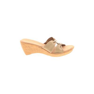 Italian Shoemakers Footwear - Italian Shoemakers Footwear Wedges: Gold Solid Shoes - Size 10