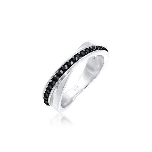 Ring Wickelring Zart Kristalle 925 Silber Elli Silber