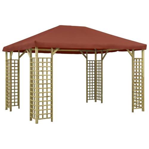 YOUTHUP Pavillon 4 x 3 m Terrakotta-Rot