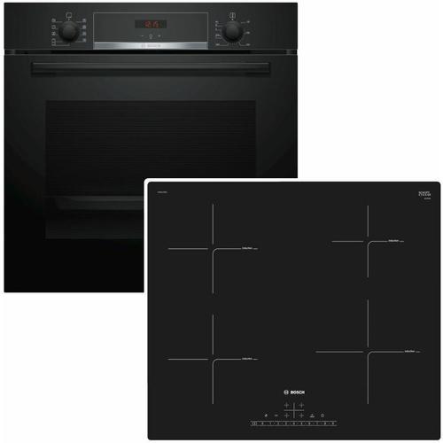 Backofen HBA534EB0 mit Kochfeld PUE611BB1E - Bosch