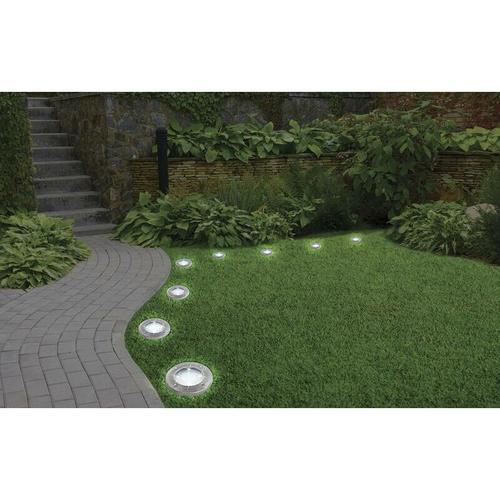 Solar LED Leuchte Disk Lights - 8 Stück - Mediashop