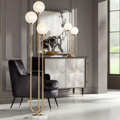 Madison Park Floor Lamp Gold , Gold