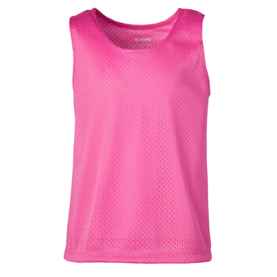 Soffe 4641G Girls Mesh Pinnie in Pink size Small   Polyester