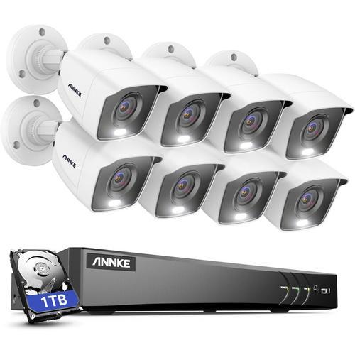 4K Ultra HD DVR-Überwachungskamerasystem mit 24/7 Vollfarb-Nachtsicht-CCTV-Überwachung im Innen