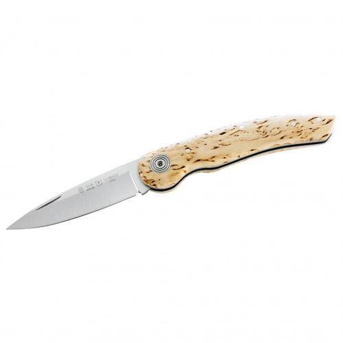 Nieto - Taschenmesser mit Maserbirkegriffschalen - Messer Gr 7,3 cm Klinge birke / steel