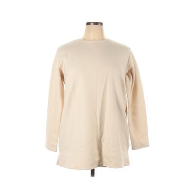 Woman Within Fleece Jacket: Tan Solid Jackets & Outerwear - Size 14