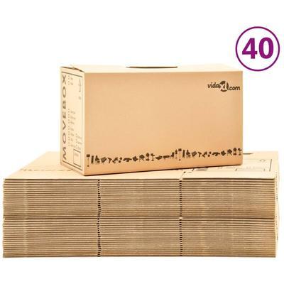 Betterlife - Umzugskartons XXL 40 Stk. 60×33×34 cm