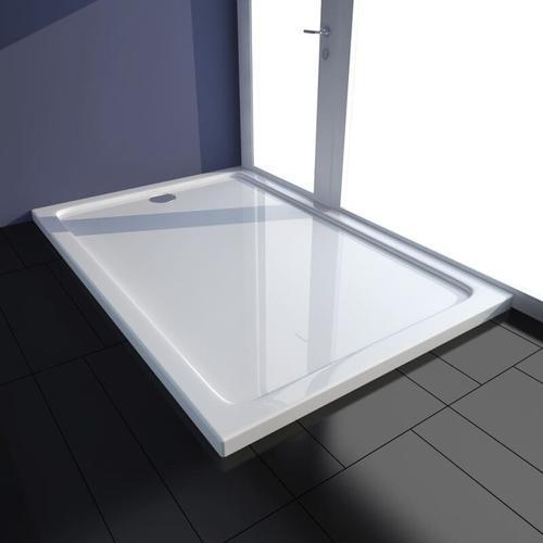 Duschtasse ABS Rechteckig Weiß 80×120 cm