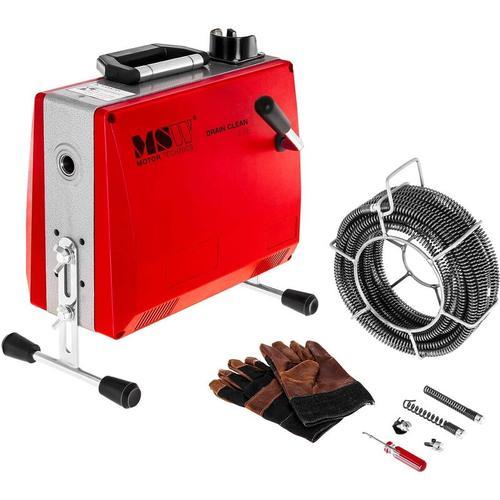 MSW - Rohrreinigungsmaschine 390 W Rohrreinigungsgerät Rohrreiniger Spirale 400 U Min