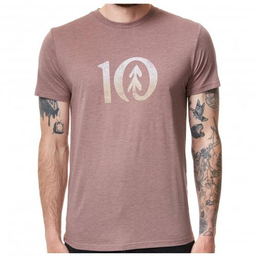 tentree - Gradient Ten T-Shirt Gr S grau/beige