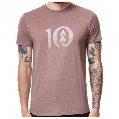 tentree - Gradient Ten T-Shirt Gr M grau/beige