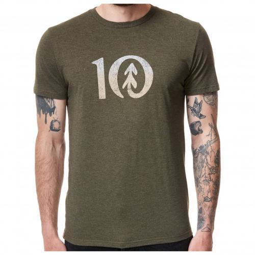 tentree - Gradient Ten T-Shirt Gr L;M;S;XL;XXL oliv;grau/beige