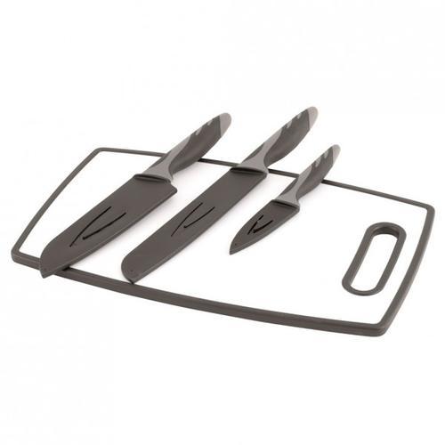Outwell - Caldas Knife Set with Cutting Board - Messer schwarz