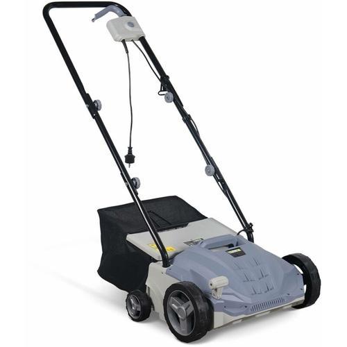 Elektrischer Rasen-Vertikutierer 1500W - 2-in-1-Rasenbelüfter- und Mäher, 2 Walzen: Messer und
