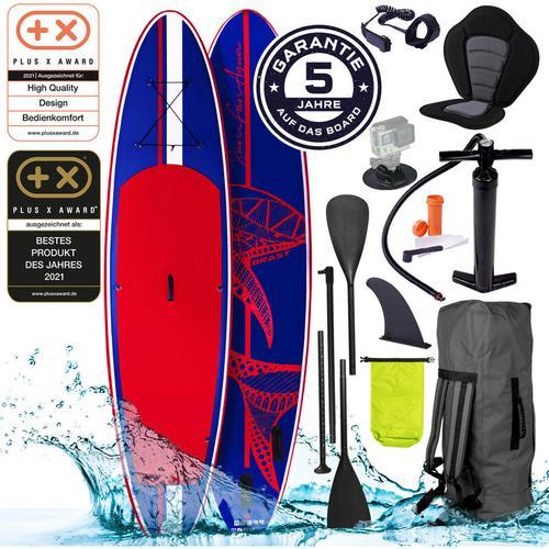 SUP Board aufblasbar SHARK 300 blue/red