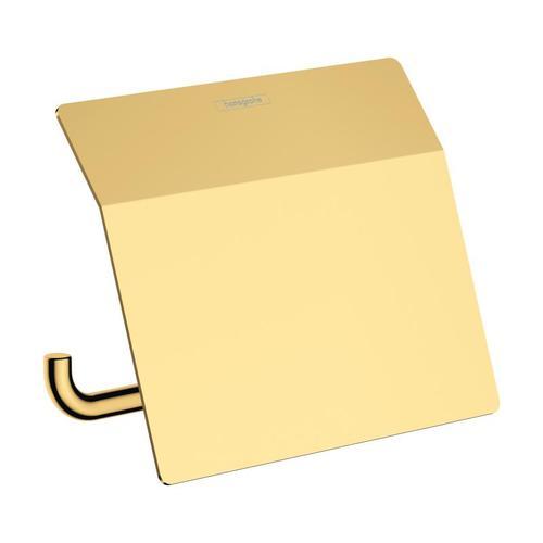 Hansgrohe AddStoris Toilettenpapierhalter mit Deckel B: 153 H: 86 T: 116 mm gold 41753990