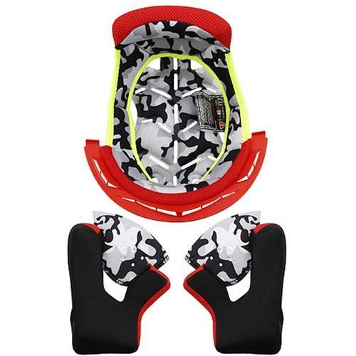 LS2 MX437 Fast Evo Innenfutter & Wangenpolster, rot, Größe S