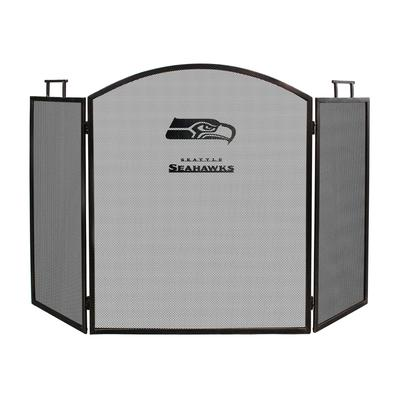 Seattle Seahawks Imperial Brown Fireplace Screen
