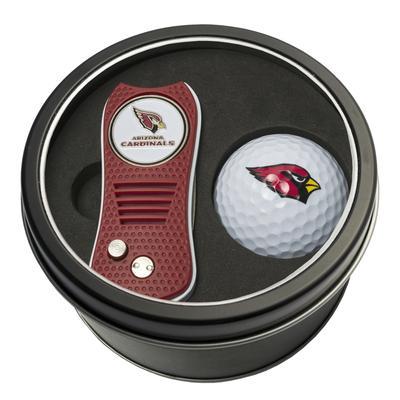 Arizona Cardinals Divot Tool & Golf Ball Personalized Tin Gift Set