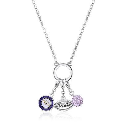 Women's Baltimore Ravens Three-Charm Necklace