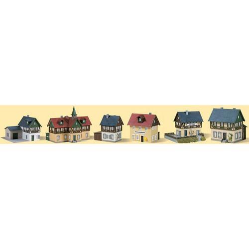 Auhagen Modelleisenbahn-Gebäude Startset Dorf, Made in Germany bunt Kinder Schienen Zubehör Modelleisenbahnen Autos, Eisenbahn Modellbau