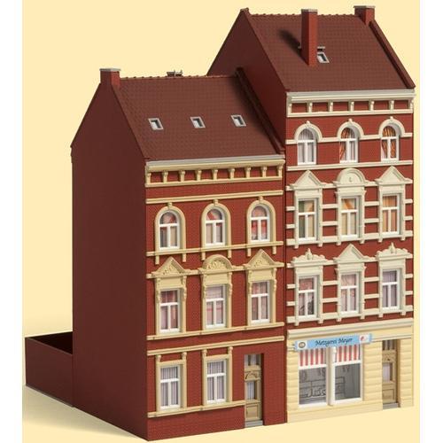 Auhagen Modelleisenbahn-Gebäude Stadthäuser Schmidtstraße 27/29, Made in Germany rot Kinder Schienen Zubehör Modelleisenbahnen Autos, Eisenbahn Modellbau