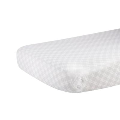 Glacier Grey Plaid Cotton Muslin Crib Sheet - Newcastle Classics 713