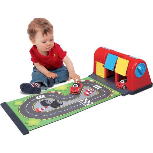 bbJunior Spiel-Parkgarage Ferrari Roll Away Raceway, mit ausrollbarer Spielmatte sowie 1 Fahrzeug bunt Kinder Zubehör für Spielzeugautos Autos, Eisenbahn Modellbau