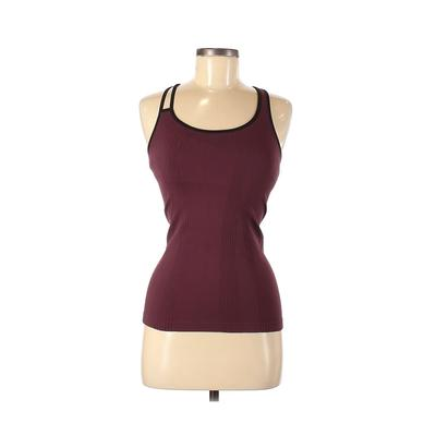 Nux Tank Top Burgundy Solid Scoop Neck Tops - Used - Size Small