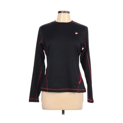 Fila Sport Active T-Shirt: Black Color Block Activewear - Size Large