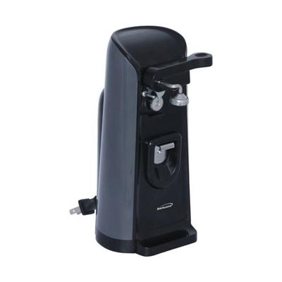 Brentwood Appliances Black Tall Electric Can Opener with Knife Sharpener and Bottle Opener