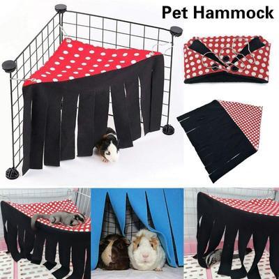 Tente hamac pour animaux de compagnie, Cage de cachette, lit nid pour cochon d'inde, Chinchilla,