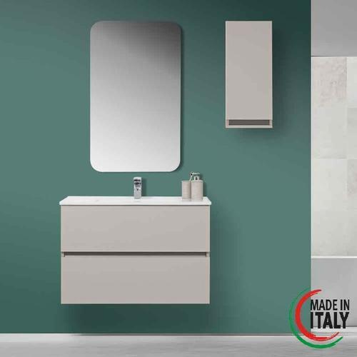 Abgehängte Badezimmerzusammensetzung 90 cm Pastello 803002 | Grau - Feridras