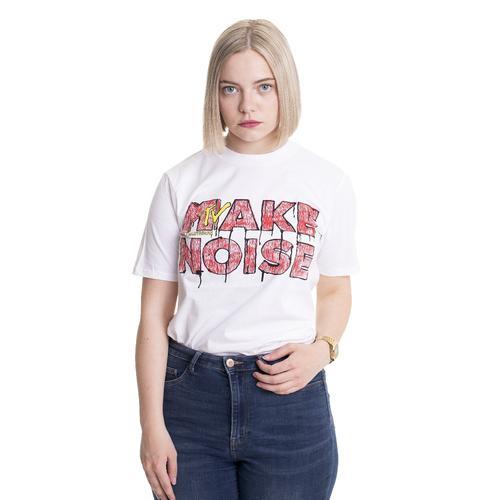 MTV - Make Noise White - - T-Shirts